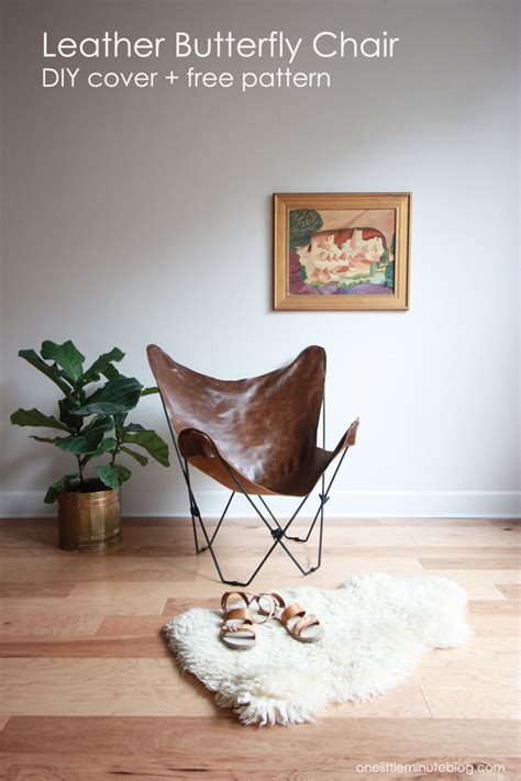 Butterfly Chair Replacement Cover Pattern by Leather Butterfly Chair Cover Diy With Free Pdf Pattern