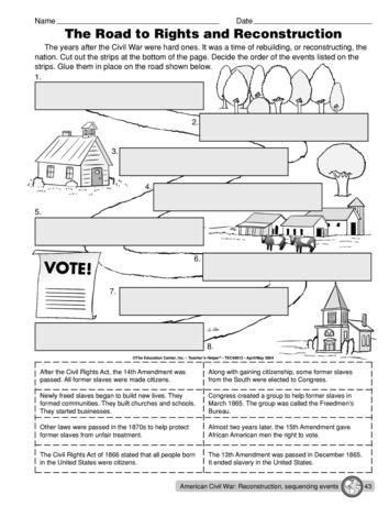 Reconstruction Worksheets Rcnschool