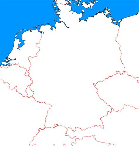 The outline map includes a list of neighboring countries, major cities, major landforms and bodies of water of germany. A Blank Map Thread | Page 5 | Alternate History Discussion