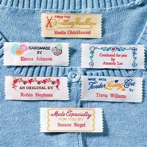 personal handiwork labels personalized fabric labels With fabric labels for handmade items