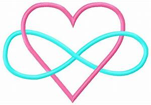 Heart Infinity Embroidery Design