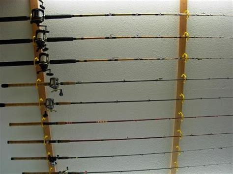 fishing rod wall rack plans woodworking projects plans