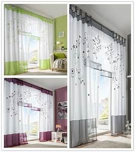Fenster Gardinen Küche : hj schlaufenschal vorhang gardine gardinenschal schlaufen blumen gr n grau lila ebay ~ Yasmunasinghe.com Haus und Dekorationen