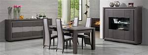 Salle a manger wapa chene gris anthracite meubles bois for Salle À manger contemporaine avec salle a manger bois massif