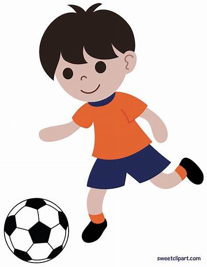 Playing Clip Soccer Boy Clipart Sweetclipart