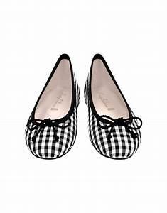 Pretty Ballerinas Black and White Check Ballerina Shoes - Lyst