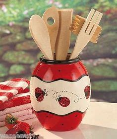 ladybug kitchen accessories canisters decor and kitchens on 3626