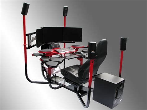 high tech computer desk v1 flagship chair the awesomer