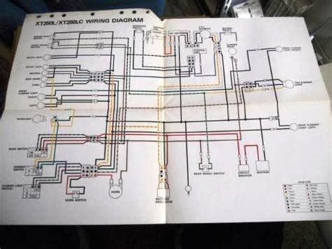 yamaha factory oem wiring diagram 1984 xt250 l lc ebay