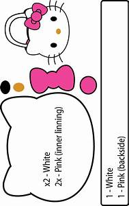 hello kitty purse pattern papercraft juxtapost With hello kitty cut out template