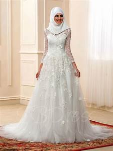 high neck long sleeve a line muslim arabic lace wedding With wedding dress arabic designer