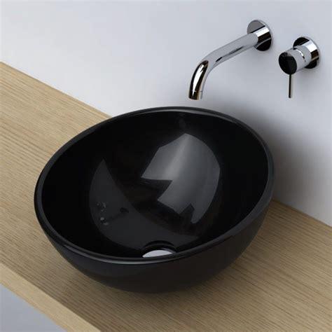 vasque noir a poser vasque 224 poser ronde bol 42 cm c 233 ramique