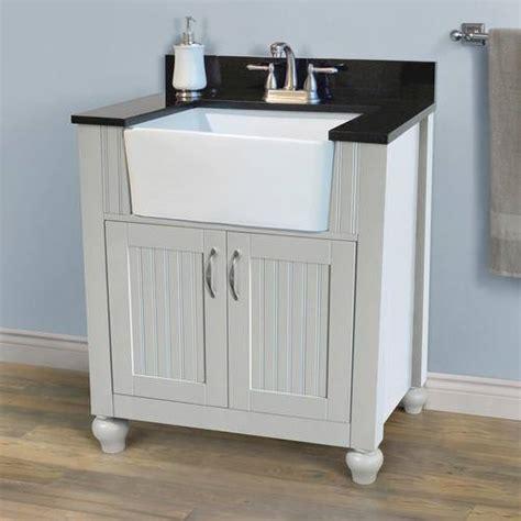 Farmhouse Apron Sink Bathroom Vanity Bathroom Vanity Happiness Redbird