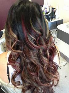Red and caramel highlights.. | Yelp