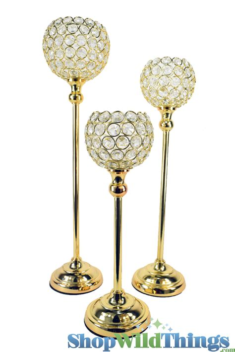gold candle holders gold and sparkling bling candle holder set for
