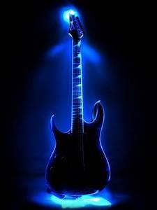 Download Neon Guitar Mobile Wallpaper
