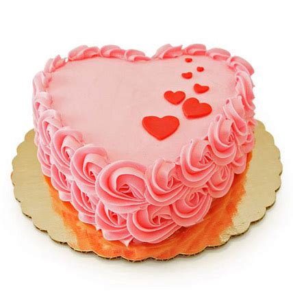 Cake Images Floating Hearts Cake 1kg Gift Pink Cake Box Boutique