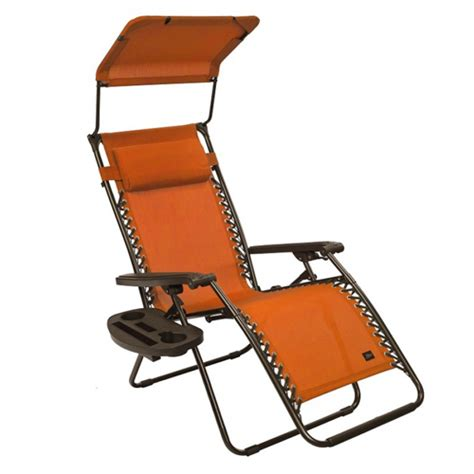 outdoor zero gravity chair with sun shade and cup tray
