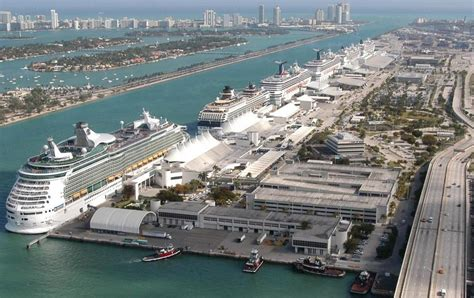 miami florida cruise port schedule cruisemapper