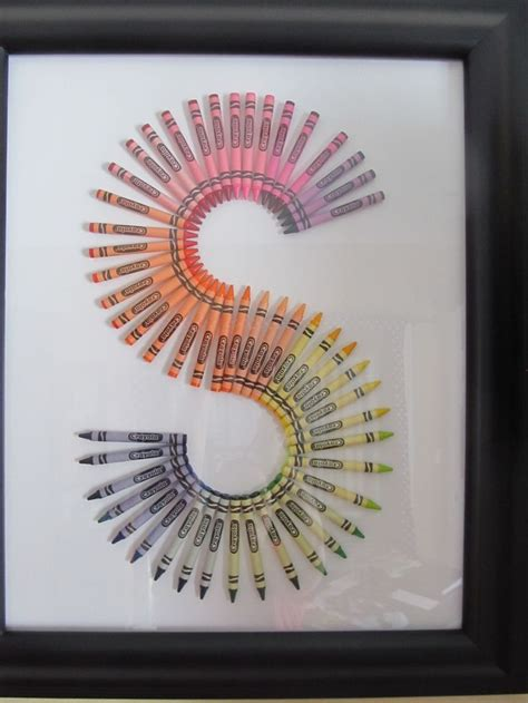 crayon letters crafts pinterest  love  gifts