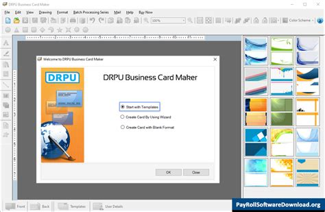 business card maker software  visiting corporate