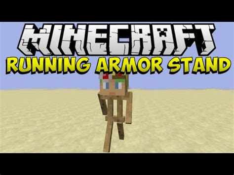 Armor Stands Minecraft by 1 8 Minecraft Running Armor Stand Youtube