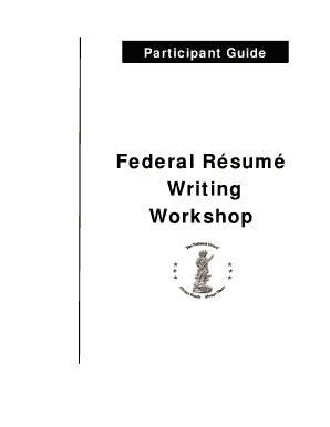 us dol employment workshop participant guide fillable