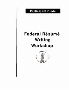 fillable online federal resume writing workshop fax email With federal resume writing workshop