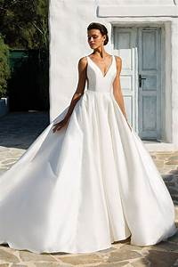 style 8937 mikado box pleat ball gown with beaded With justin alexander silk wedding dress