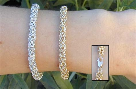 small chainmail bracelet   metalworking