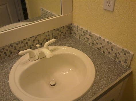 backsplash bathroom ideas glass tile backsplash in bathroom 4353