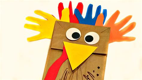 fun  crafty paper bag turkey projects guide patterns