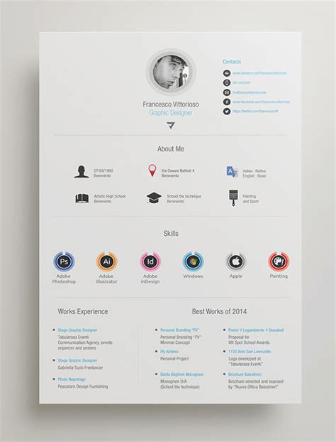 8 best photos of adobe indesign resume templates