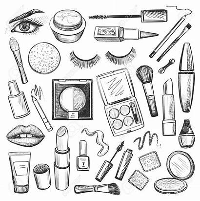 Makeup Drawing Drawn Brushes Hand Icons Beauty