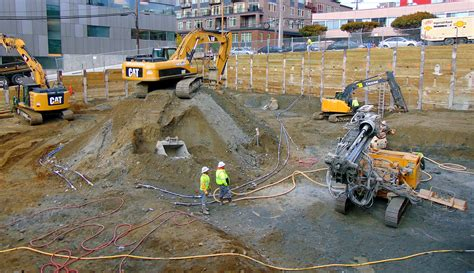 shoring contractor dmi drilling building  strong