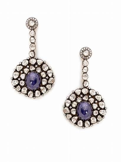 Gilt Earrings Drop Tanzanite Diamond Jewelry Linear