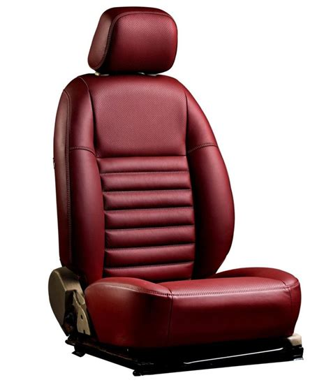 Ovion Red Artleather Seat Covers Buy Ovion Red Art