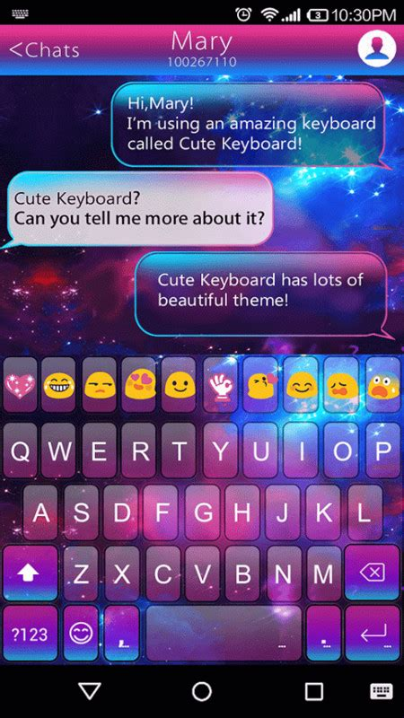 color emoji for android color galaxy emoji keyboard free android keyboard