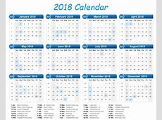 Calendar 2018 Printable One Page Latest Calendar