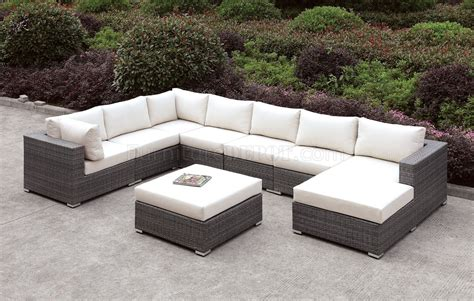 u shaped sectional with ottoman somani cm os2128 4 outdoor u shaped sectional sofa w ottoman