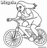 Bike Coloring Pages Vehicle Coloringway sketch template