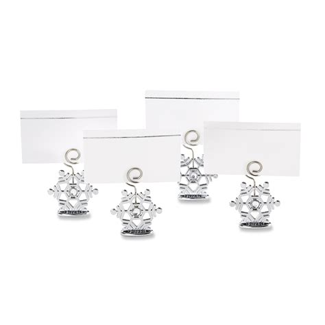 flocked glass snowflake ornament placecard holder set of amazon com flurry flocked glass ornament place card
