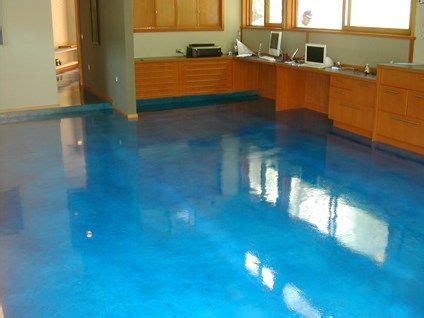 stained concrete floors    water diy