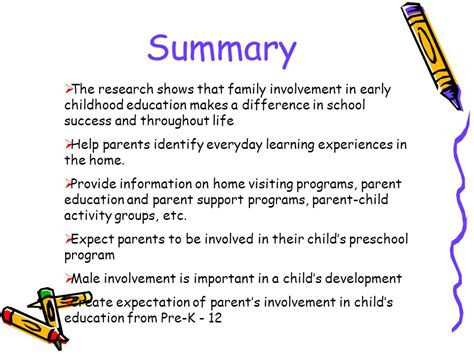 preschool benefits research parent involvement in early childhood education ppt 955