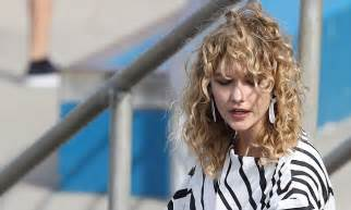 Karlie Kloss Sports Wavy Locks During Photo Shoot Bondi