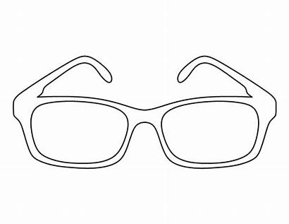 Glasses Pattern Outline Template Printable Sunglasses Pdf