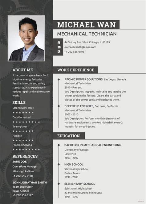 mechanical engineering resume template   word