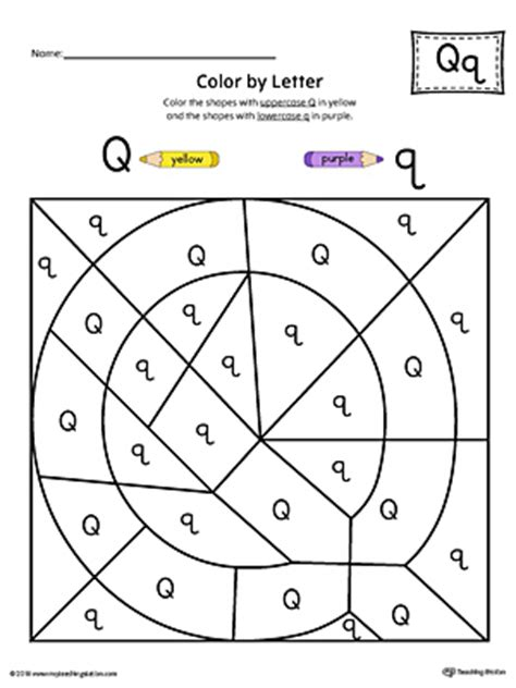 Uppercase Letter Q Colorbyletter Worksheet Myteachingstationcom