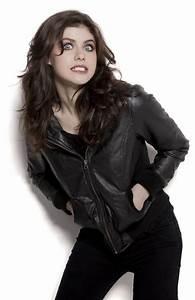 Alexandra Daddario Stylish Black Bomber Designer Jacket -FMJ  Alexandra