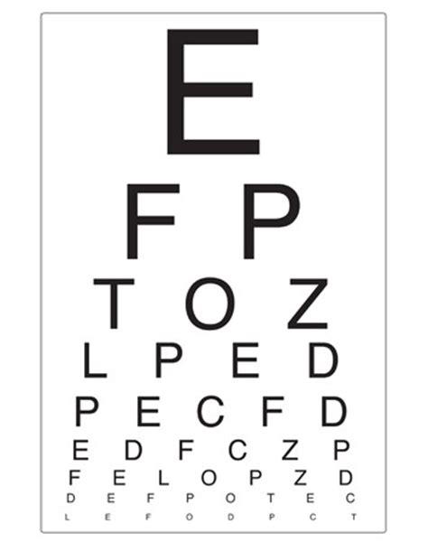 eye chart opticians play free early years
